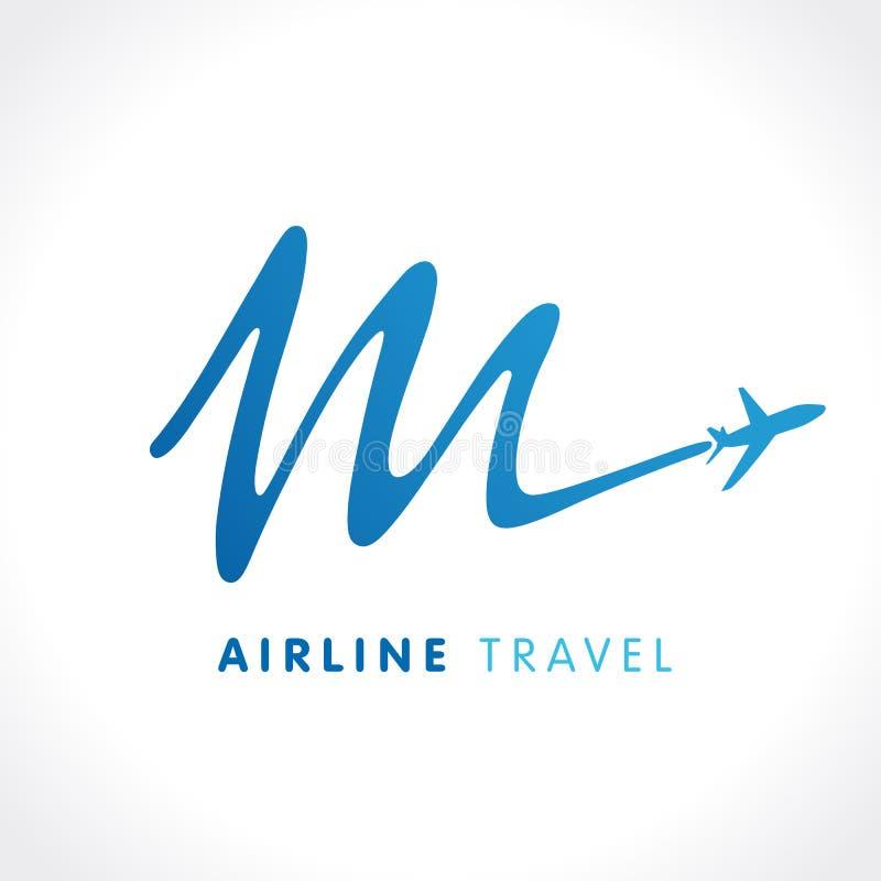 Logotipo da empresa do curso da letra de M ilustração royalty free
