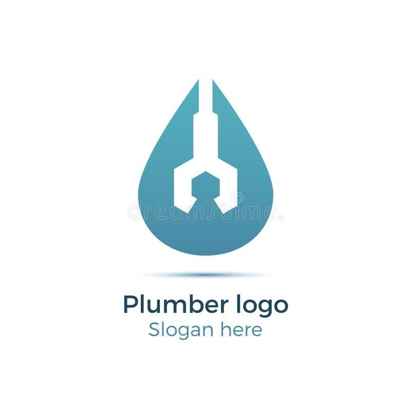 Logotipo da empresa do encanamento fotos de stock