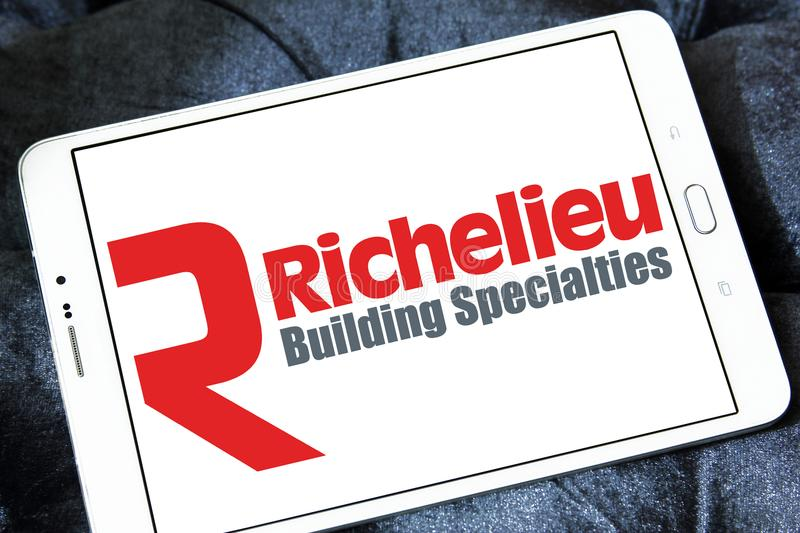 Logotipo da empresa do hardware de Richelieu fotos de stock