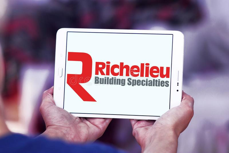 Logotipo da empresa do hardware de Richelieu fotografia de stock