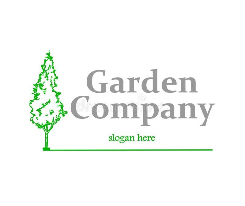 Logotipo da empresa do jardim ilustração do vetor