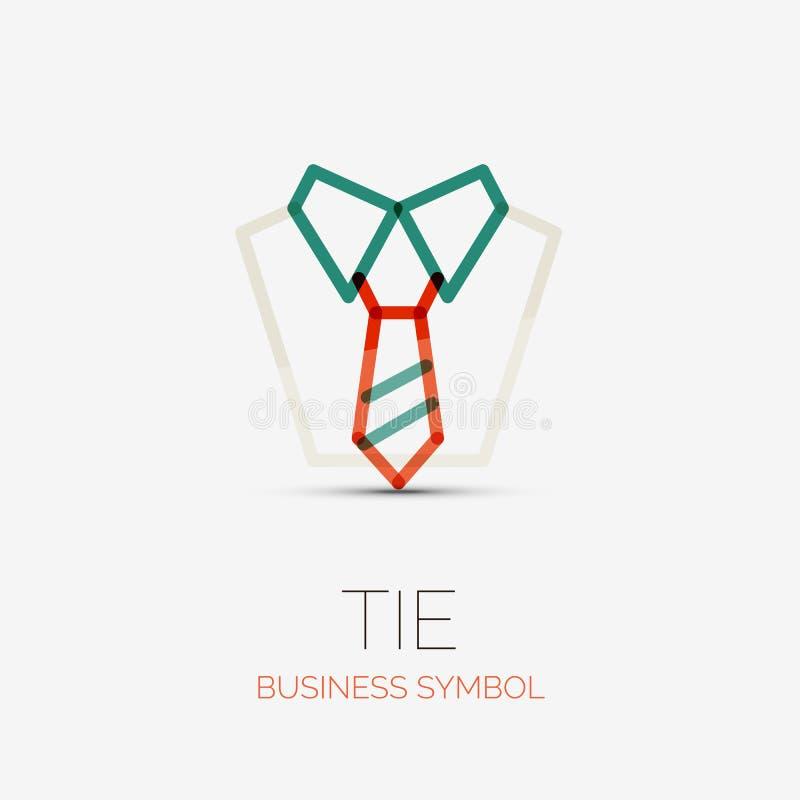 Logotipo da empresa do laço e da camisa, conceito do negócio ilustração do vetor