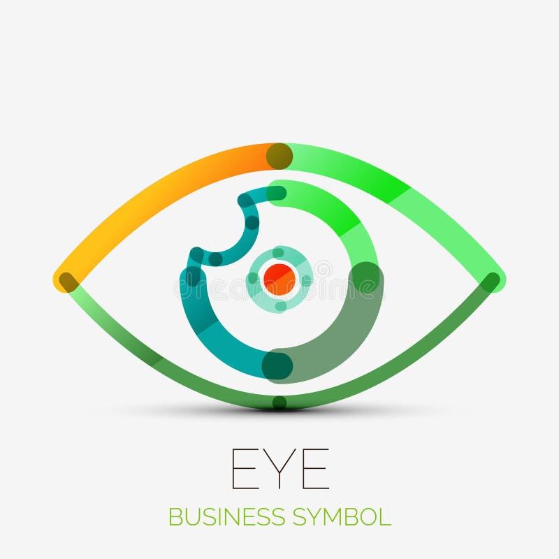 Logotipo da empresa do olho de Humam, conceito do negócio ilustração do vetor