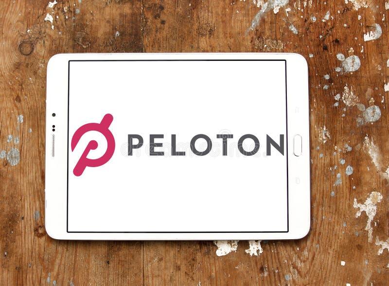 Logotipo da empresa do Peloton imagem de stock