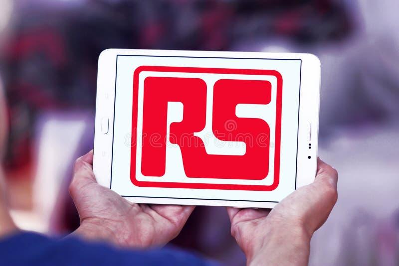 Logotipo da empresa dos componentes de RS imagens de stock
