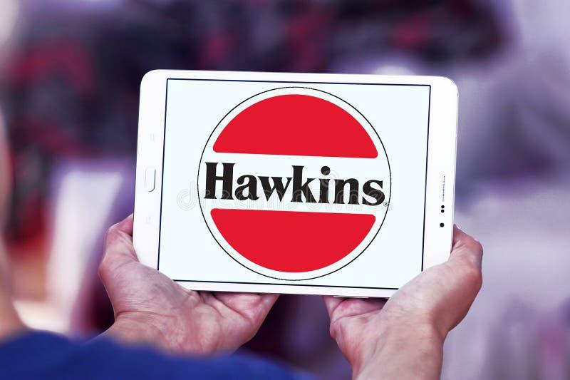 Logotipo da empresa dos fogões de Hawkins foto de stock