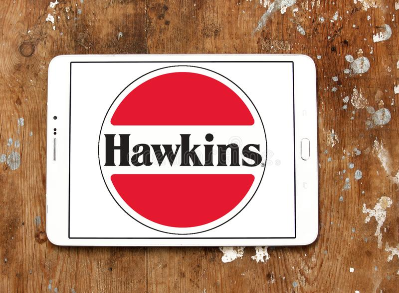 Logotipo da empresa dos fogões de Hawkins fotografia de stock