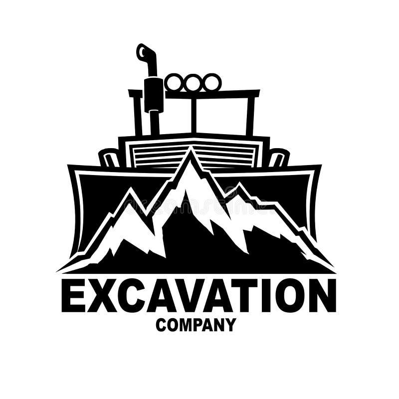 Logotipo da empresa da escavação imagens de stock