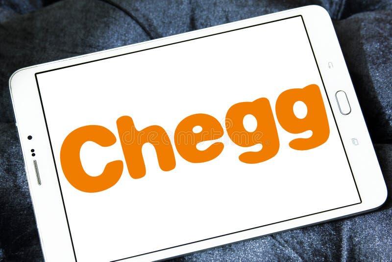 Logotipo da empresa da tecnologia da educação de Chegg fotografia de stock