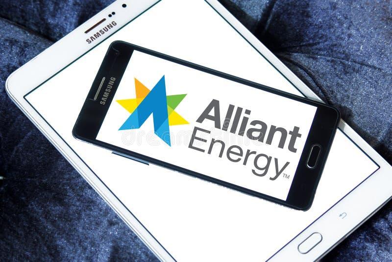Logotipo da energia de Alliant imagem de stock royalty free