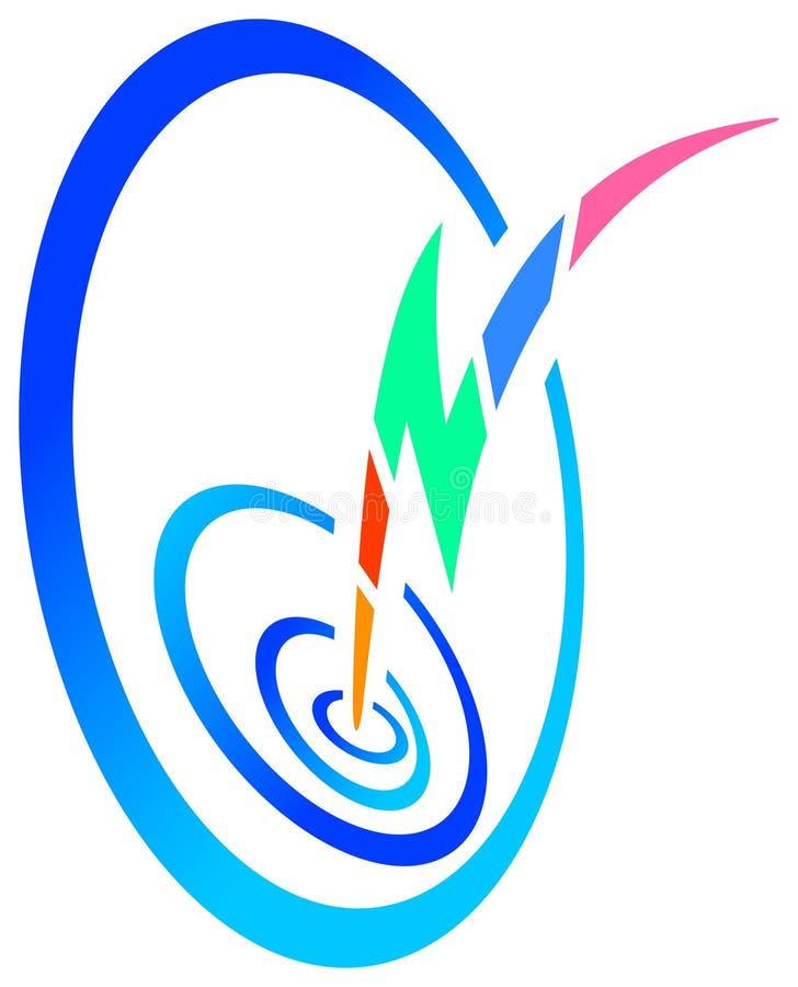 Logotipo da energia eléctrica ilustração royalty free