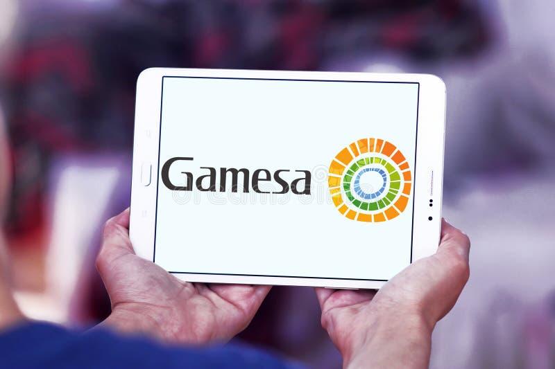 Logotipo da energia renovável de Siemens Gamesa fotografia de stock royalty free
