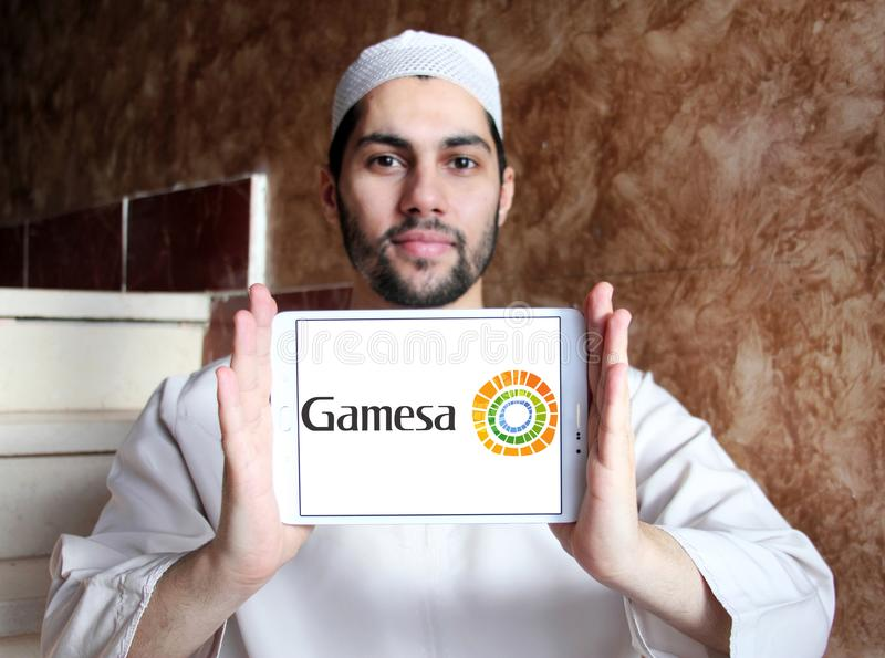 Logotipo da energia renovável de Siemens Gamesa foto de stock royalty free