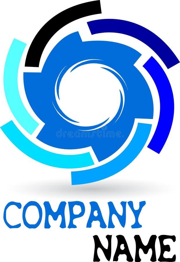Logotipo da engrenagem ilustração royalty free