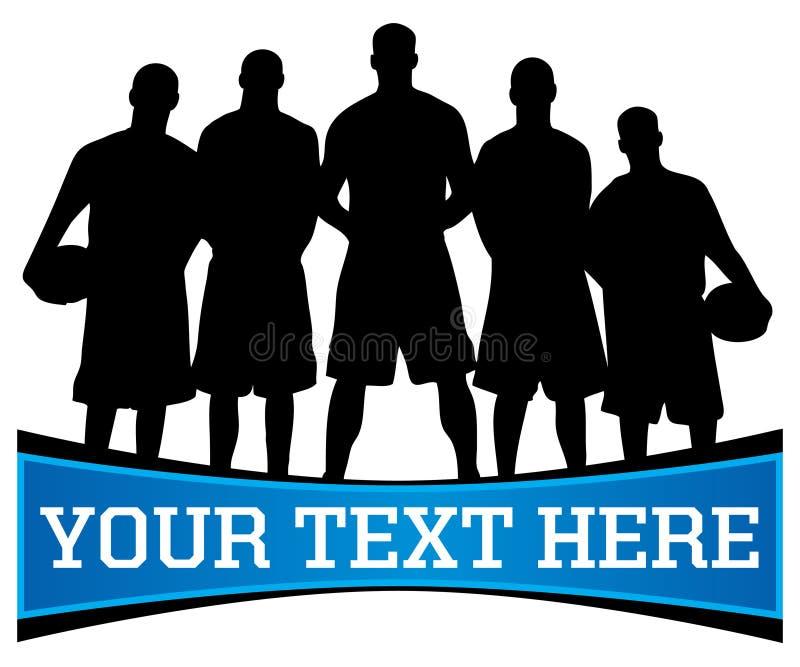Logotipo da equipa de basquetebol ilustração royalty free