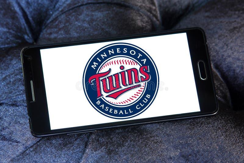 Logotipo da equipa de beisebol dos Minnesota Twins imagem de stock royalty free