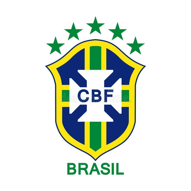 Logotipo da equipa de futebol nacional brasileira ilustração do vetor