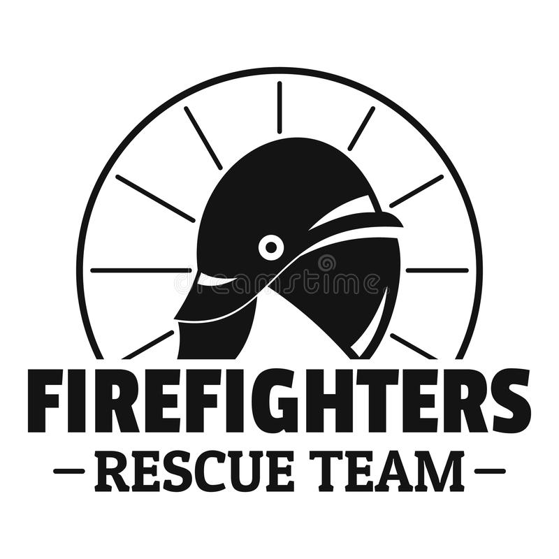 Logotipo da equipa de salvamento dos sapadores-bombeiros, estilo simples ilustração do vetor