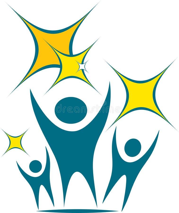 Logotipo da equipe ilustração stock