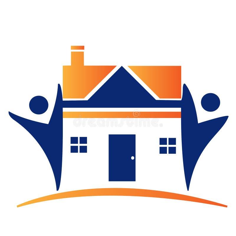 Logotipo da equipe da casa ilustração do vetor