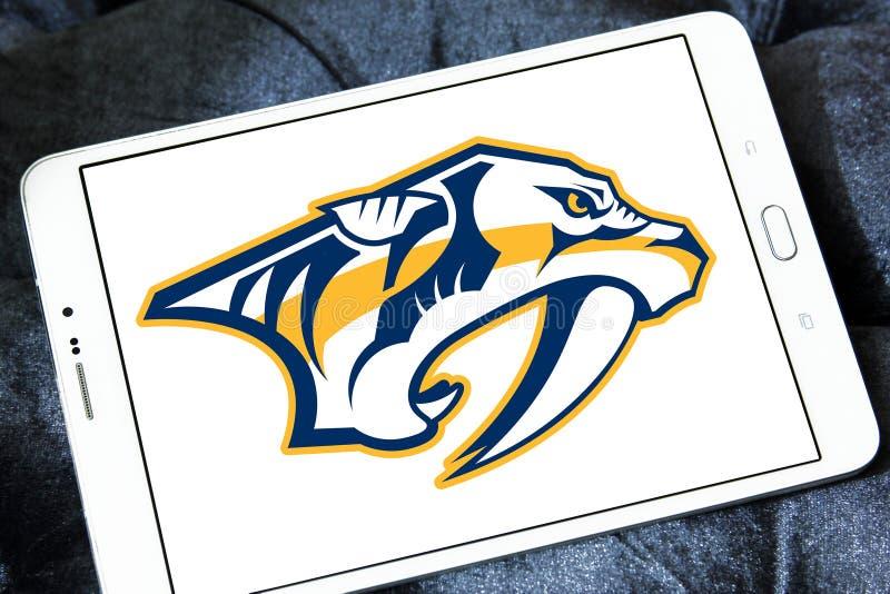 Logotipo da equipe de hóquei em gelo dos predadores de Nashville foto de stock royalty free