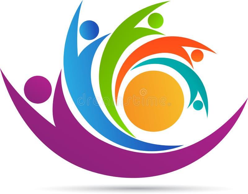 Logotipo da equipe dos povos ilustração stock