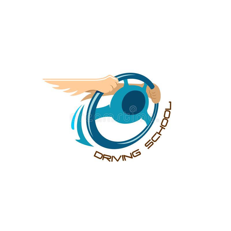 Logotipo da escola de condução ilustração stock