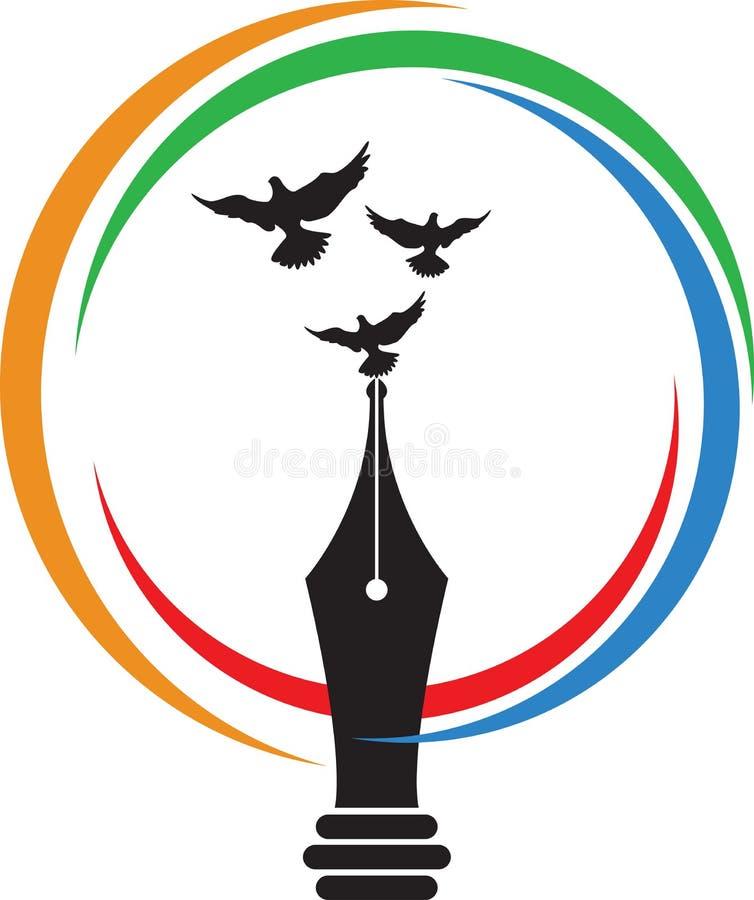 Logotipo da escrita da mosca ilustração stock