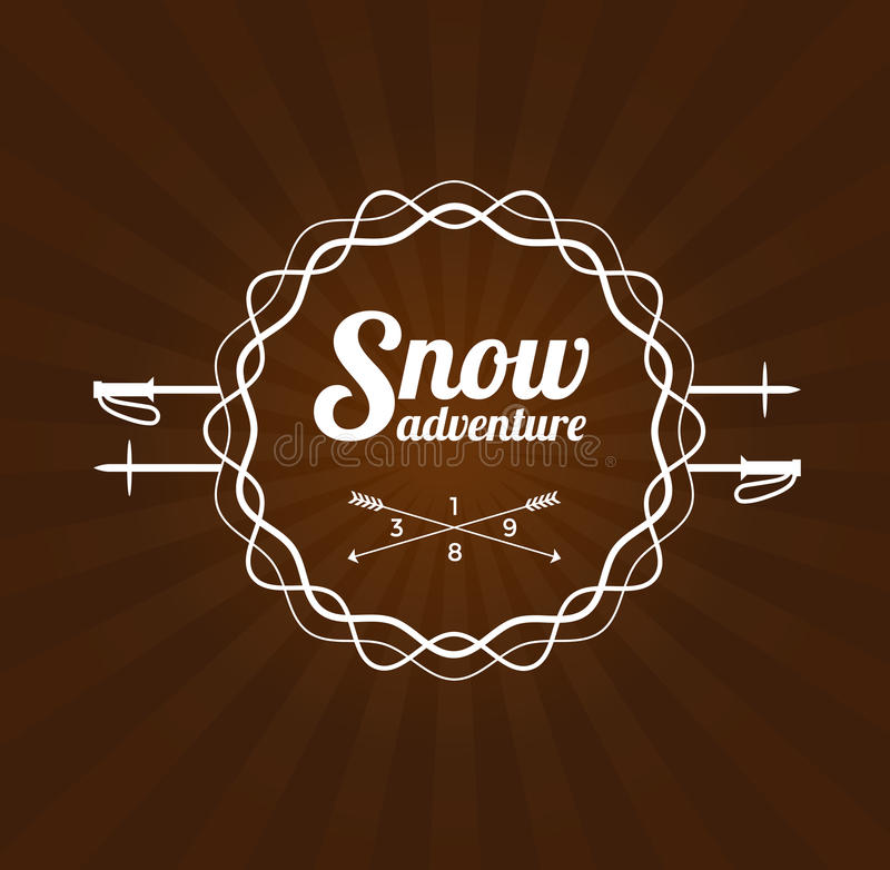 Logotipo da estância de esqui ilustração royalty free