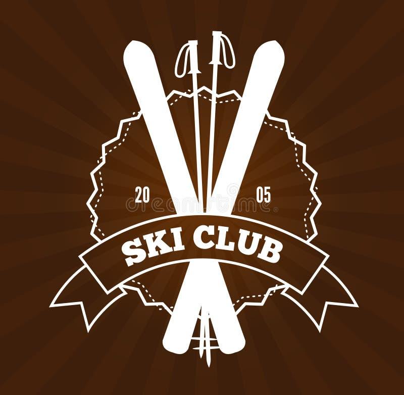 Logotipo da estância de esqui ilustração stock