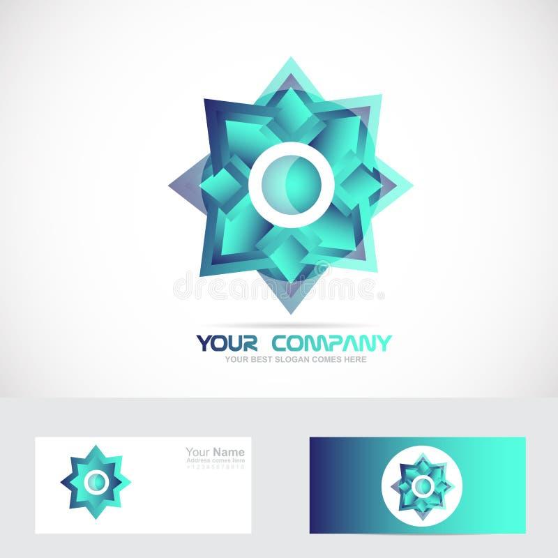 Logotipo da estrela azul ilustração do vetor