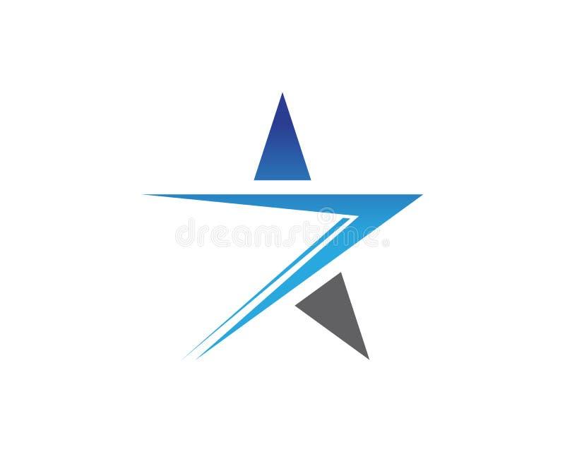 Logotipo da estrela azul e molde app dos ícones dos símbolos ilustração royalty free