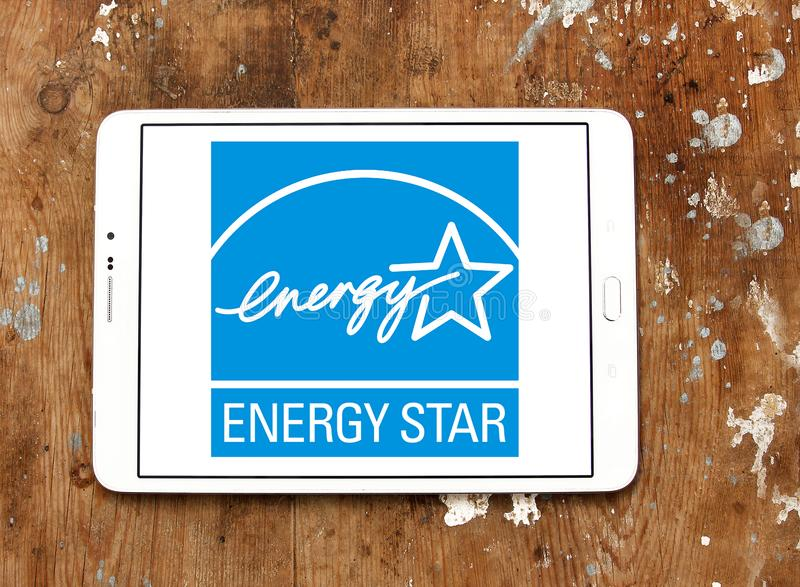 Logotipo da estrela da energia fotos de stock