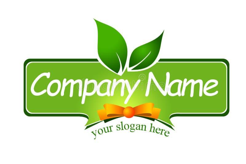 Logotipo da etiqueta do alimento ilustração do vetor