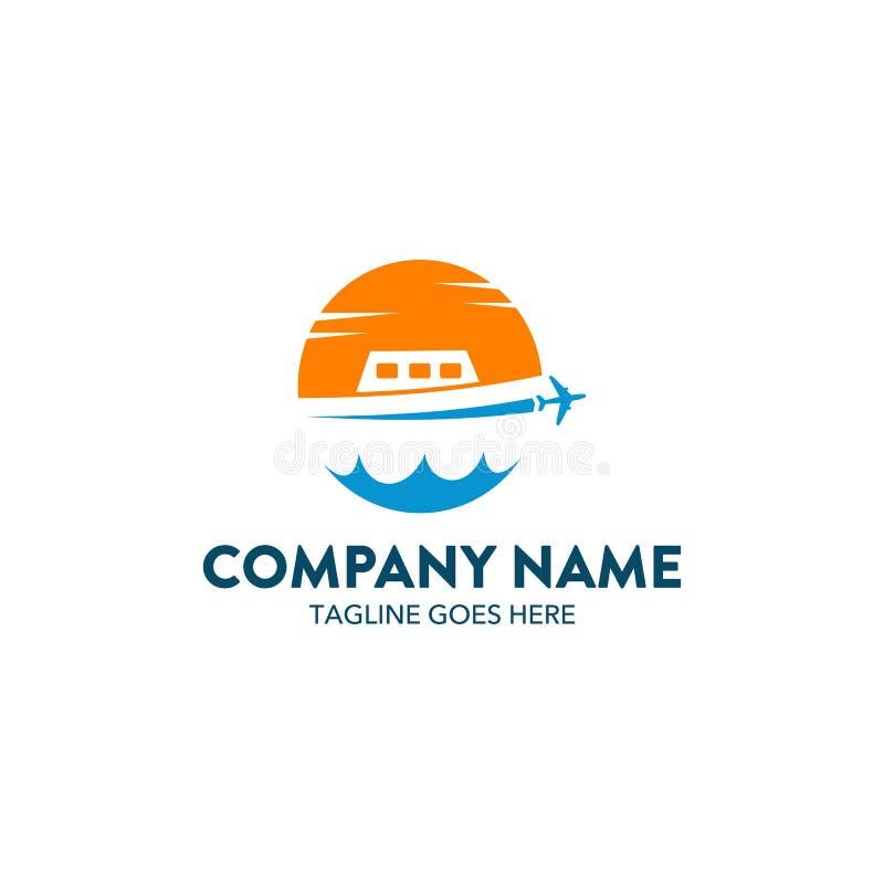 Logotipo da excursão e do curso ilustração stock