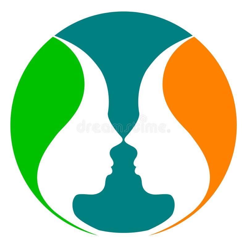 Logotipo da face de espelho ilustração royalty free