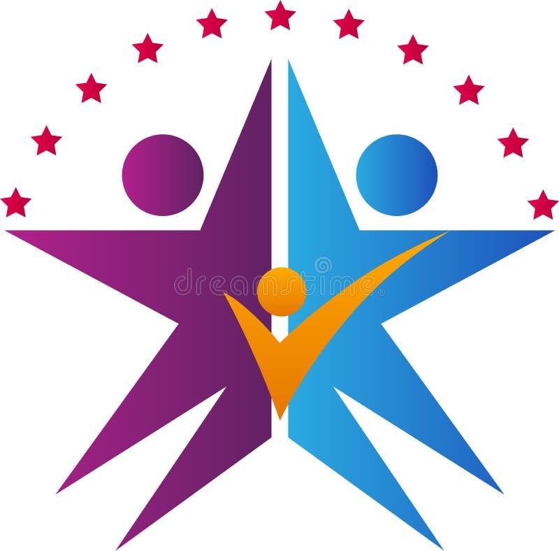 Logotipo da família da estrela ilustração royalty free
