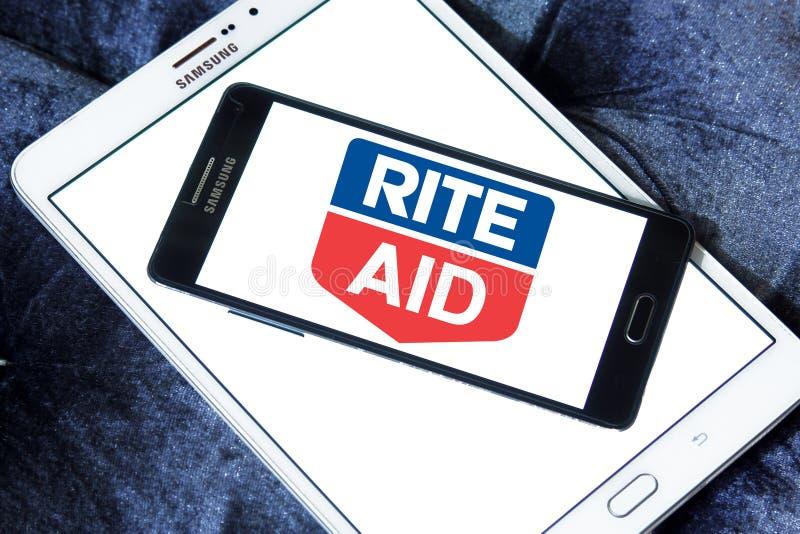 Logotipo da farmácia do auxílio do rito fotografia de stock