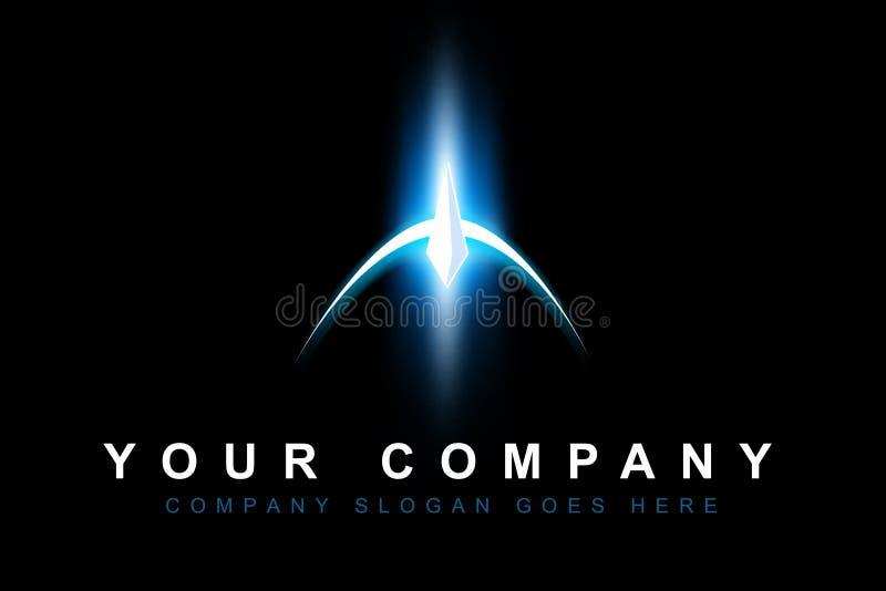 Logotipo da ficção científica do espaço ilustração stock