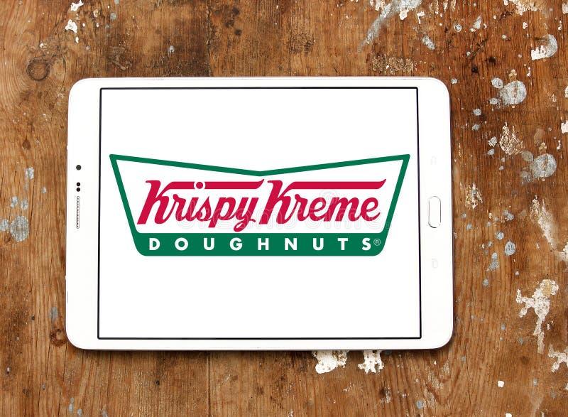 Logotipo da filhós do kreme de Krispy fotografia de stock