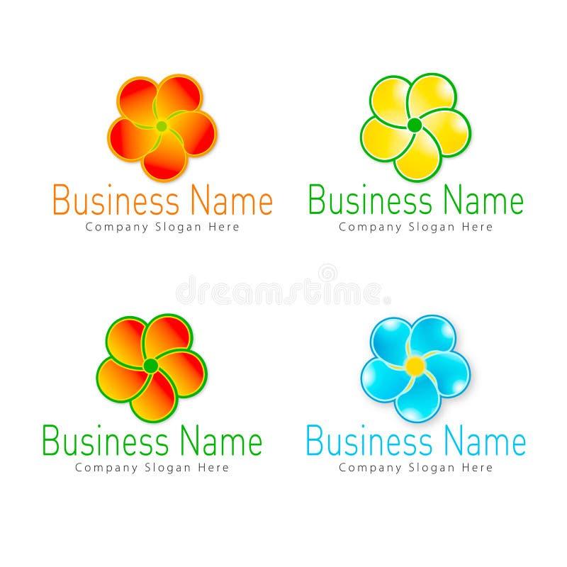 Logotipo da flor ilustração do vetor