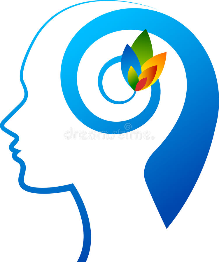Logotipo da flor da mente ilustração stock