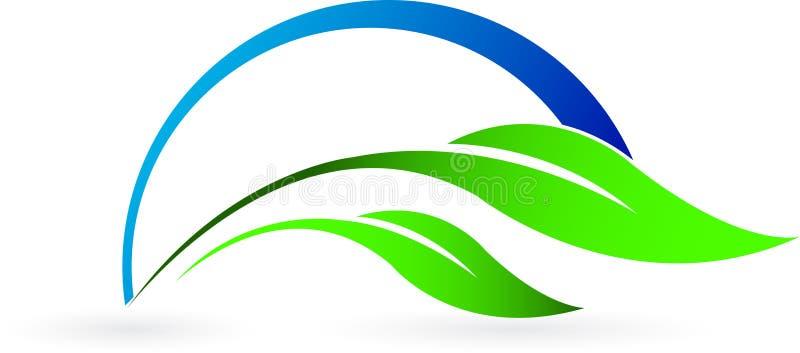 Logotipo da folha ilustração do vetor