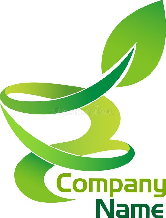 Logotipo da folha ilustração stock