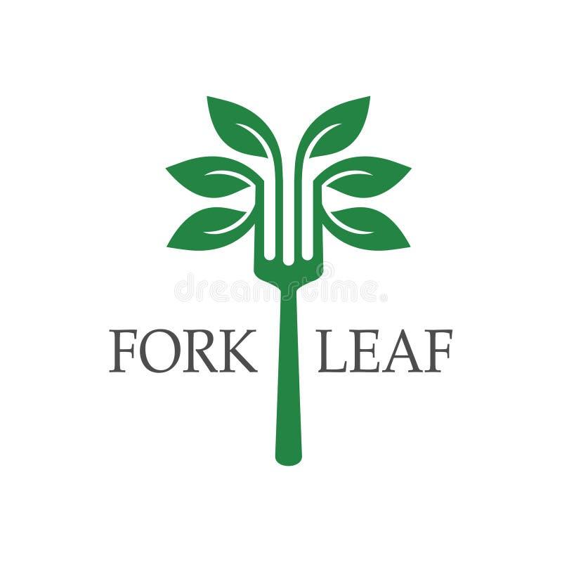 logotipo da folha da forquilha ilustração do vetor