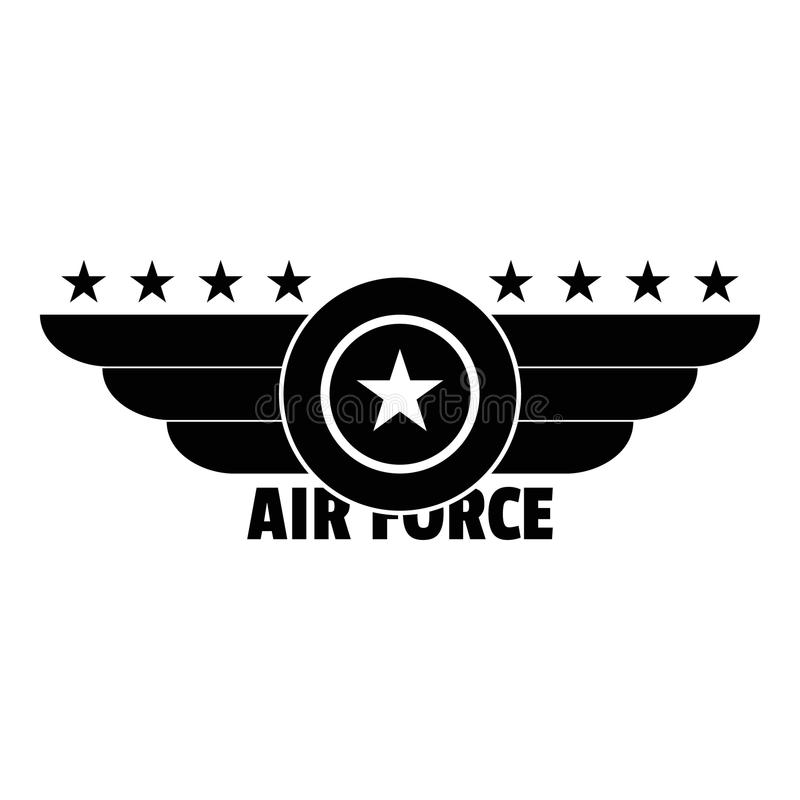 Logotipo da força aérea, estilo simples ilustração stock