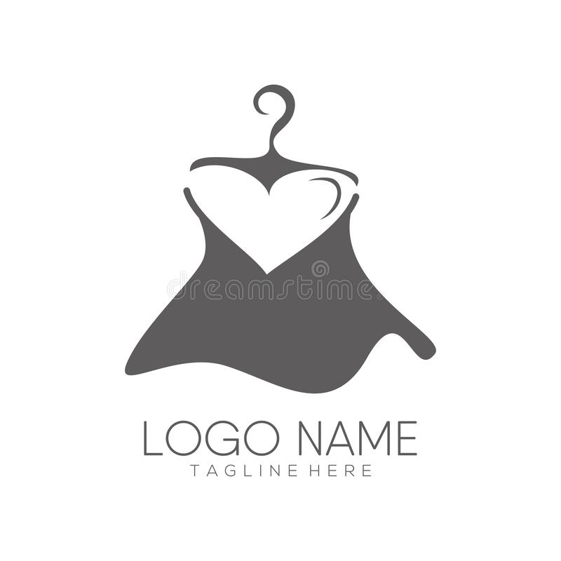 Logotipo da forma das mulheres e projeto do ícone ilustração stock