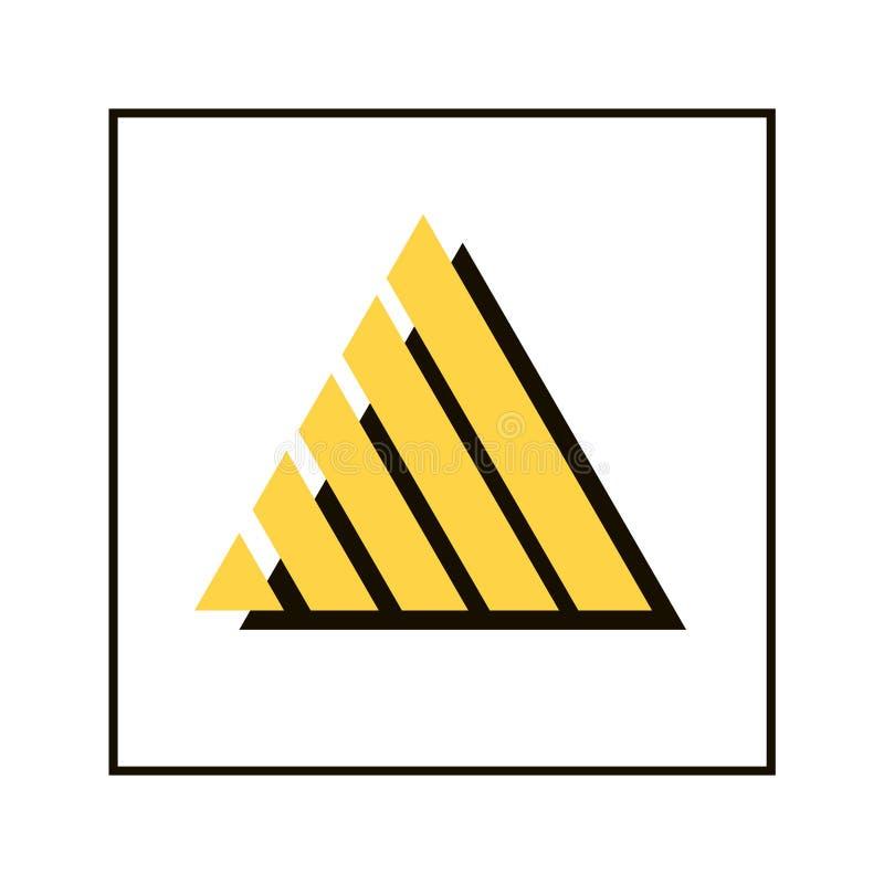 Logotipo da forma dupla do triângulo ilustração do vetor