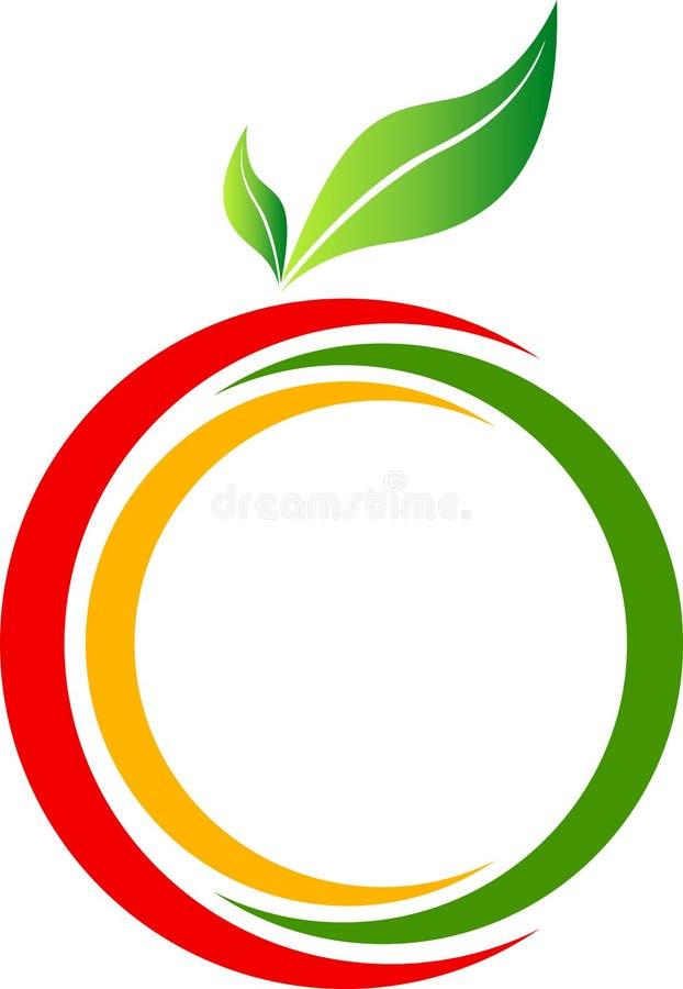 Logotipo da fruta ilustração stock