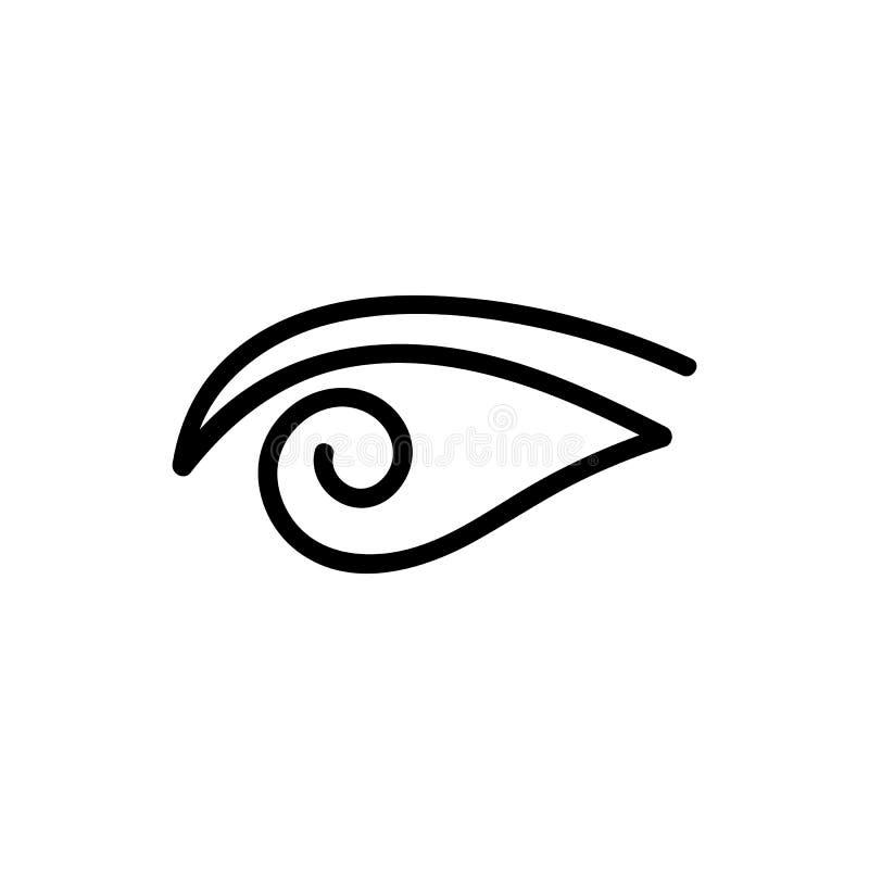 Logotipo da garatuja do olho roxo ilustração do vetor